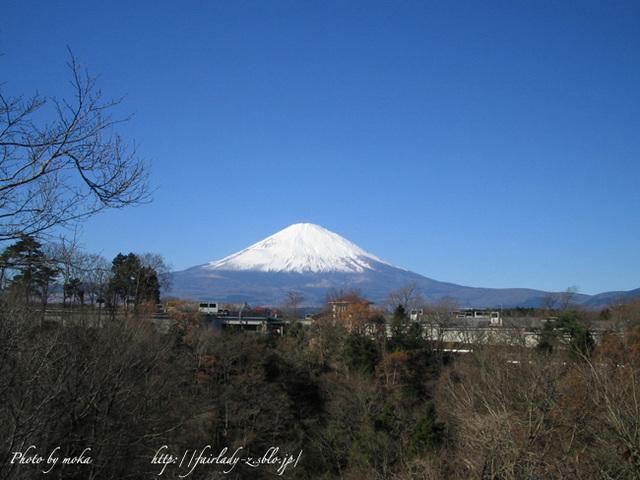 真っ白の富士山