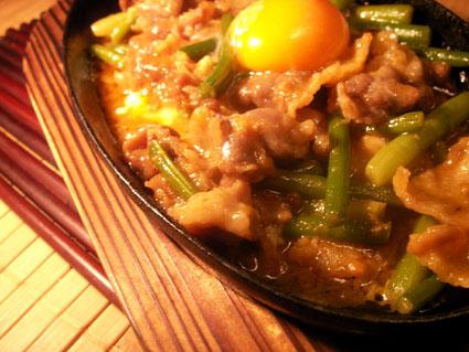 20080503 牛肉とにんにくの芽の鉄板焼き2.jpg