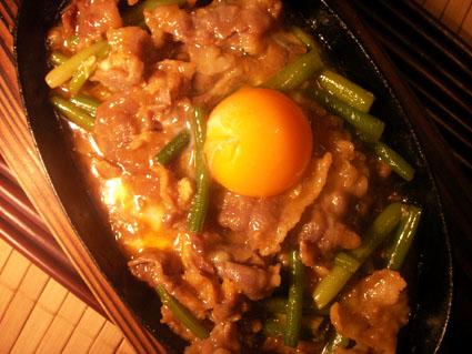 20080503 牛肉とにんにくの芽の鉄板焼き3.jpg