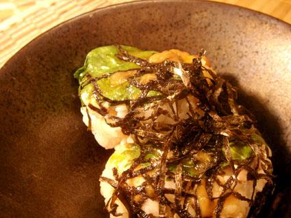 20080825 しそとばら肉のてごね寿司3.jpg