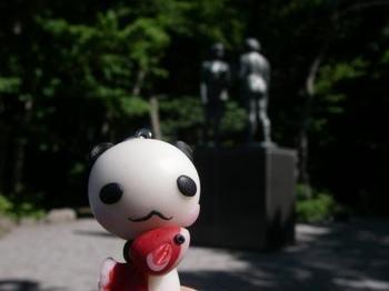 乙女の像とパンパンちゃん.JPG