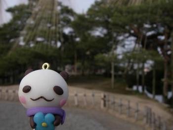 兼六園でパンパンちゃん20130113.JPG