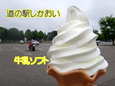 牛乳ソフトに舌鼓(^_^)V