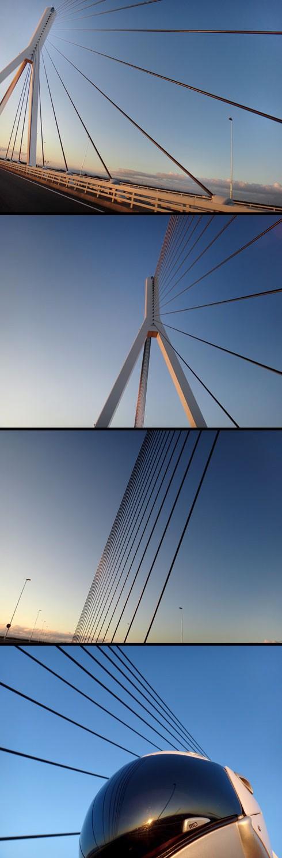 一面吊り斜張橋です。