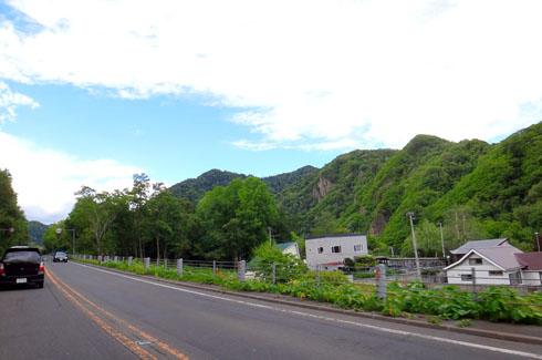 定山渓が見えてきました。