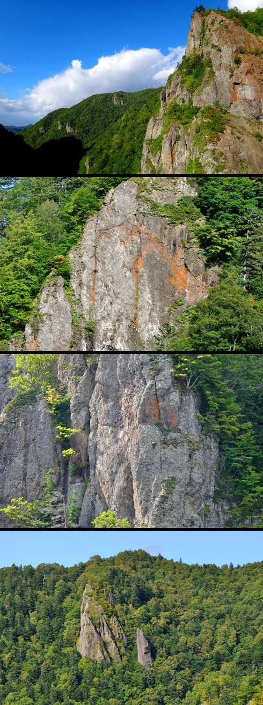 岩肌はツルンとしています。