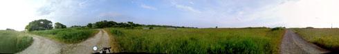 石狩川の河川敷です。