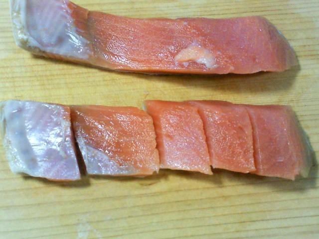 塩鮭のカット