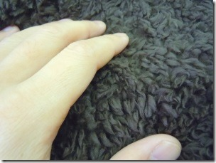 texture of the flancflanc's boa blanket