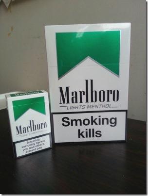 シンガポールの免税店で買ったタバコ