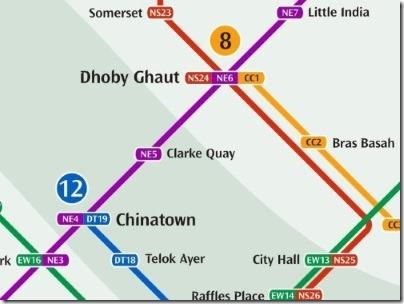 シンガポールのMRT駅クラークキー路線図