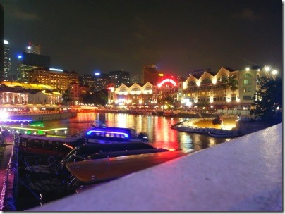 シンガポールのクラークキー夜景