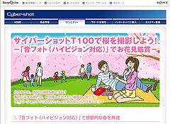 サイバーショット「DSC-T100」で桜を撮影しよう