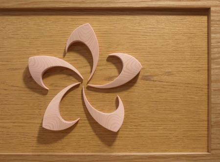 アートな木のマグネットー春3.JPG