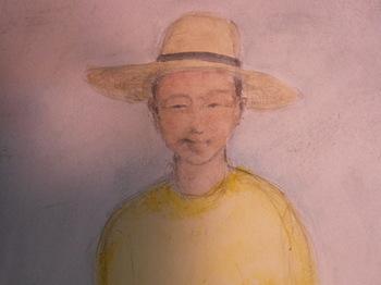 Kenji in a straw hat.JPG
