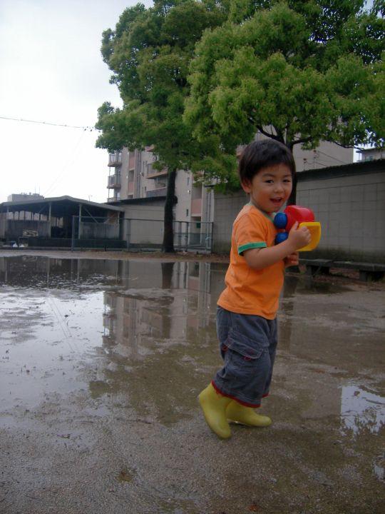 大雨の後で11