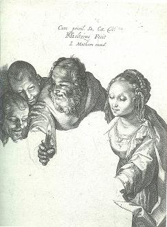 ヘンドリック・ホルツィウス「羊飼いの礼拝」1600年頃 エングレーヴィング.jpg