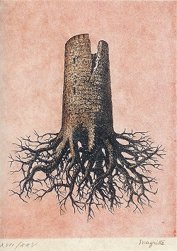 マグリット「オルメイヤーの阿房宮」1968年 エッチング.jpg
