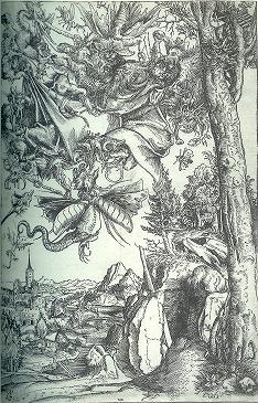 ルーカス・クラーナハ(父) 「聖アントニウスの誘惑」1506年 木版.jpg