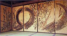 棟方志功 「天に伸ぶ杉木」 園林堂襖絵@東本願寺.jpg