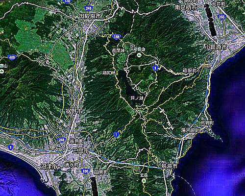 箱根と函南.jpg