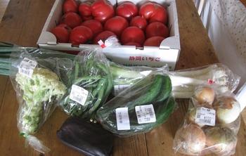 JAで野菜を買ってたら 知り合いのおじさんに・・・.jpg