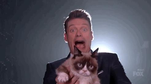 Grumpy Cat &Ryan Seacrest.png
