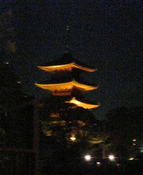 ライトアップの五重塔.JPG