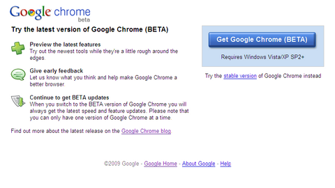 Google Chrome (BETA)