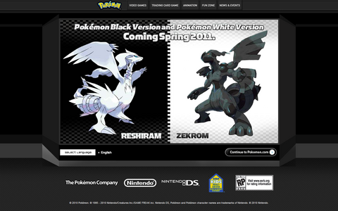 Pokémon Black Version and Pokémon White Version