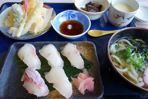34 マハタの寿司御膳です.JPG
