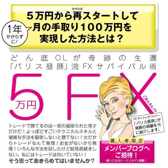 パリス昼豚の5万円FX