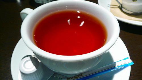 〆は紅茶で