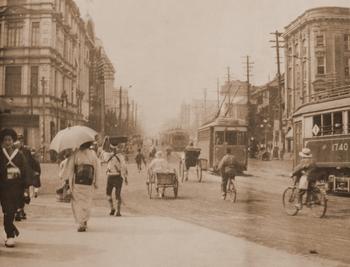 1921 日本橋上から京橋方面を.JPG