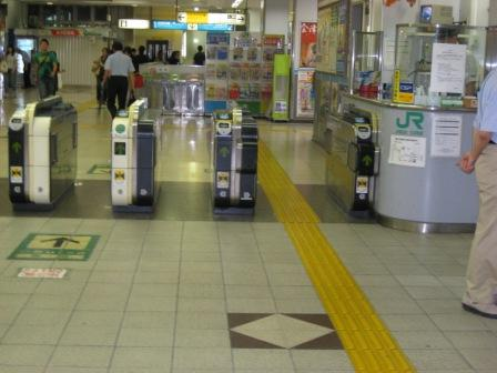 JR大井町駅中央口改札の写真②