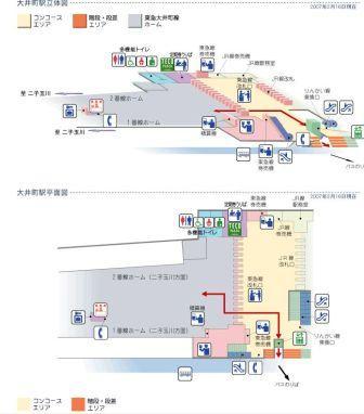 東急大井町駅構内図