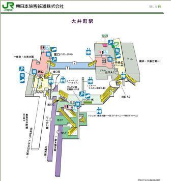 JR大井町駅構内図