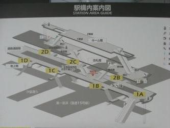 ゆりかもめ新橋駅の構内図