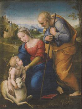 ラファエロ「聖家族と仔羊」.jpg