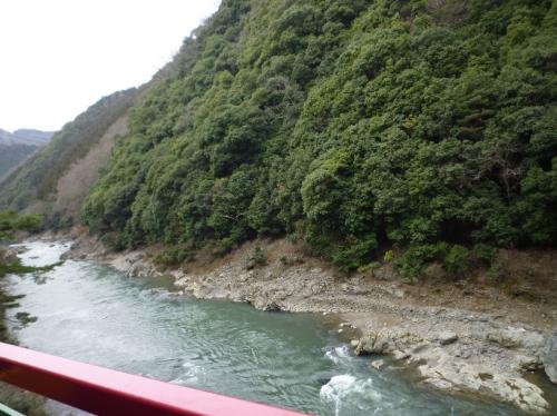嵯峨野嵐山トロッコから