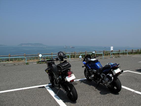 彦島道路で一服.JPG