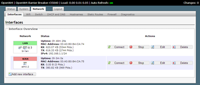 OpenWrt - Interfaces - LuCI
