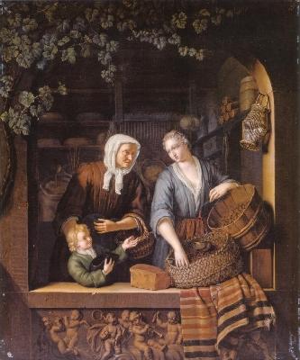 フランス・ファン・ミーリス2世《雑貨商の女店主》