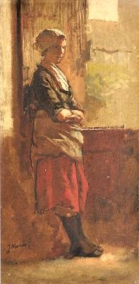 ヤーコブ・マリス《窓辺の少女》