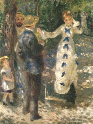 《ぶらんこ》[1876](オルセー美術館蔵)