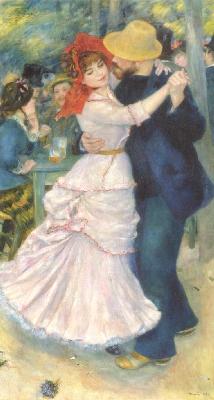 《ブージヴァルのダンス》[1883](ボストン美術館蔵)