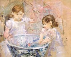 ベルト・モリゾ《飾り鉢で遊ぶ子どもたち》