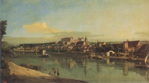 ベルナルド・ベロット《エルベ川から見たピルナの風景》