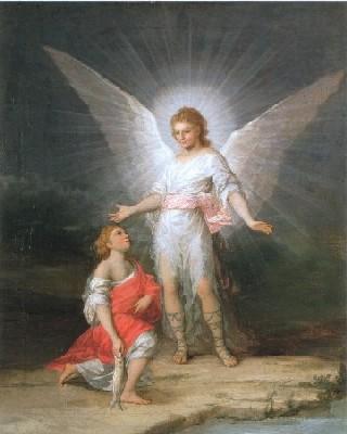 ゴヤ、フランシスコ・デ《トビアスと大天使ラファエル》