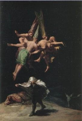 ゴヤ、フランシスコ・デ《魔女の飛翔》